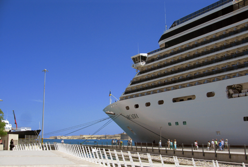 Cruise Liner at the Valletta Waterfront